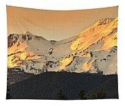 Mt. Shasta Sunset Panorama Tapestry