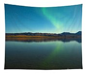 Northern Lights And Fall Colors At Calm Lake Tapestry