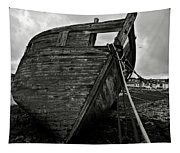 Old Abandoned Ship Tapestry
