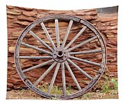 Old Wagon Wheel 2 Tapestry