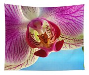 Pink Orchid Flower Details Tapestry