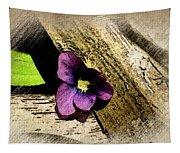 Peeking Violet Tapestry