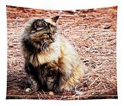 Pine Needle Kitty Tapestry