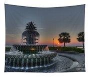 Pineapple Sunrise Tapestry
