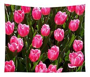 Pink Tulips Tapestry