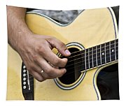 Playing Guitar Tapestry