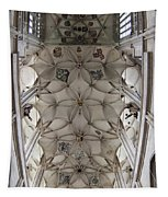 pointed vault of Saint Barbara church Tapestry