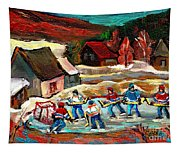 Pond Hockey 3 Tapestry