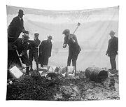 Prohibition Feds Destroy Liquor  1923 Tapestry