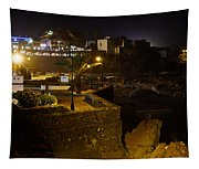 Puerto De La Cruz By Night Tapestry