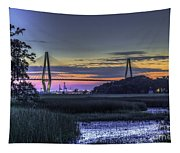 Charleston Bridge Low Tide Tapestry