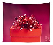 Red Gift Box Tapestry