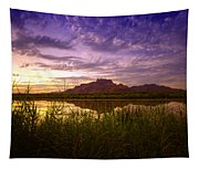 Red Mountain Reflections  Tapestry