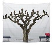Red Umbrella Tapestry
