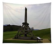 Replica Of Wooden Trebuchet And The Ruins Of The Urquhart Castle Tapestry