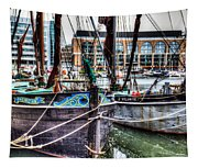 River Thames Sailing Barges. Tapestry