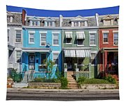 Row Houses In Washington D.c. Tapestry
