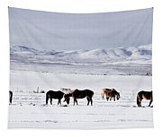 Ruby Mountain Winter Tapestry