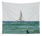 Sailing In California Tapestry