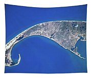 Satellite View Of Cape Cod National Tapestry