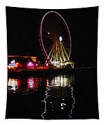 Seattle Ferris Wheel Tapestry