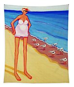 Shorebirds Of A Feather Tapestry