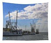Shrimp Boats On Shem Creek Tapestry
