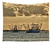 2 Shrimper Going To Sea Tapestry