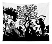 Silhouette Daily Life Tapestry
