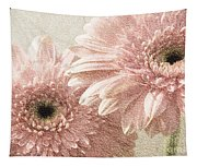 2 Silver Pink Painterly Gerber Daisies Tapestry