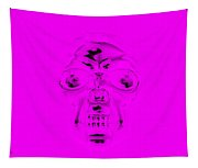 Skull In Purple Tapestry
