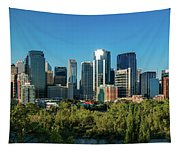 Skylines In A City, Bow River, Calgary Tapestry
