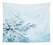 Snowflake In Snow Tapestry