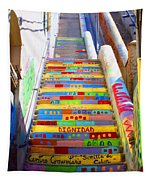 Stairway To Heaven Valparaiso  Chile Tapestry