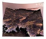 Starry Night Landscape Tapestry