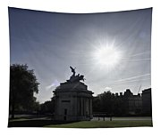 Statue Of Angel Of Peace Atop The Wellington Arch Tapestry