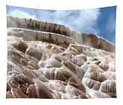 Steamy Mammoth Hot Springs Tapestry