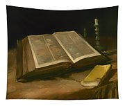 Still Life With Bible Tapestry