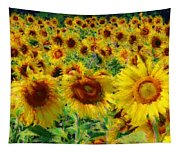Sunny Sunflowers Tapestry