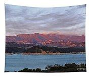 Sunset At Cachuma Lake Tapestry
