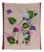 Sweet Peas And Butterflies Tapestry