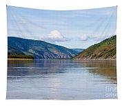 Taiga Hills At Yukon River Near Dawson City Tapestry