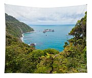 Tasman Sea At West Coast Of South Island Of New Zealand Tapestry