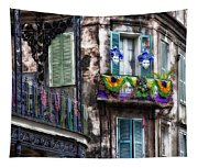 The French Quarter During Mardi Gras Tapestry