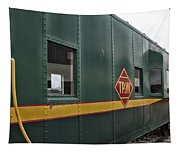 Tpw Rr Caboose Side View Tapestry