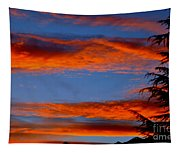 Tree In Sunset Tapestry