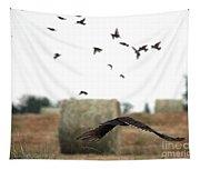 Turkey Vulture Takes Flight Tapestry