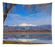 Twin Peaks Longs And Meeker Lake Reflection Tapestry