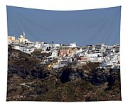 Views Of Santorini Greece Tapestry