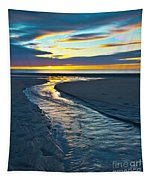 Wells Beach Maine Sunrise Tapestry